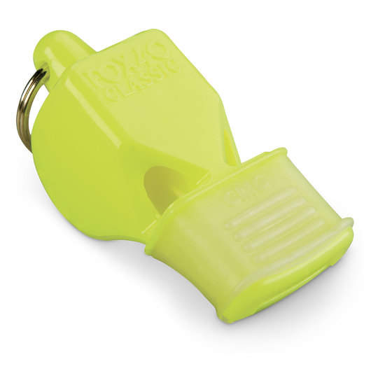 Classic Fox 40® Whistle with Cushioned Mouth Grip - Neon Yellow