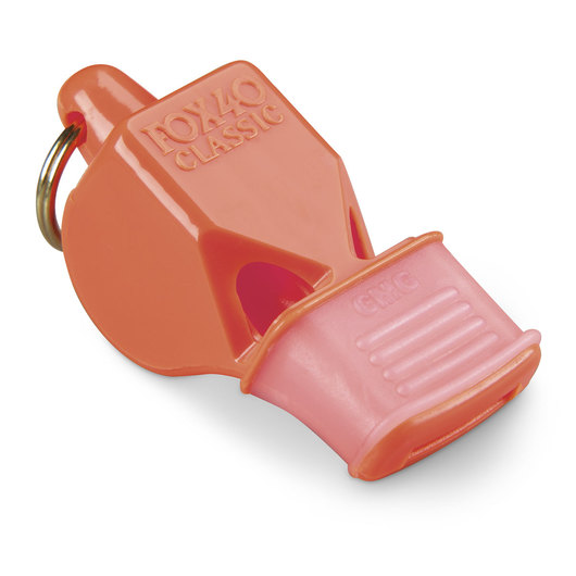 Classic Fox 40® Whistle with Cushioned Mouth Grip - Orange