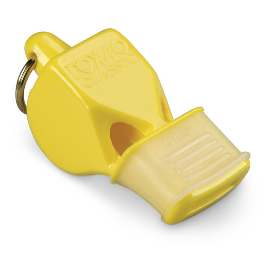 Classic Fox 40® Whistle with Cushioned Mouth Grip - Yellow