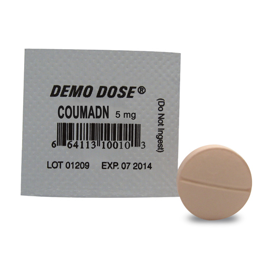 Demo Dose® Oral Medications - Coumadn - 5 mg