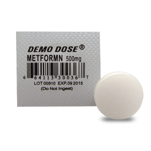 Demo Dose® Oral Medications - Metformn - 500 mg