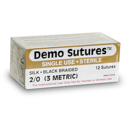 Demo Sutures™ - Size 2/0 with 1/2 Circle Curved Cutting Needle (19 mm)