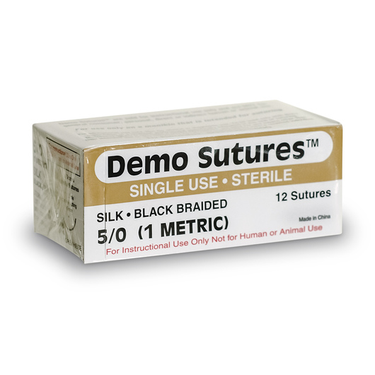 Demo Sutures™ - Size 5/0 with 1/2 Circle Curved Cutting Needle (19 mm)