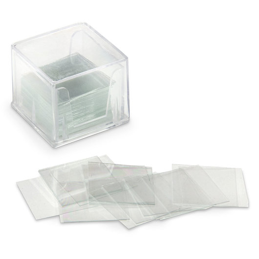 Square Micro Cover Glasses - 18 mm x 18 mm - No. 1 Thickness