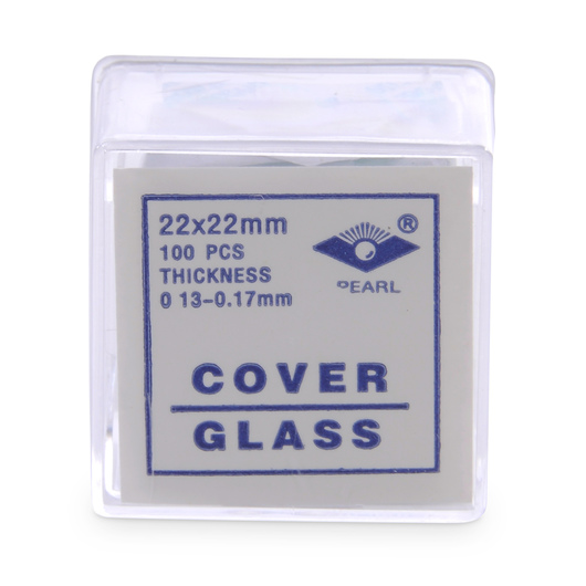 Square Micro Cover Glasses - 22 x 22 mm, No. 1 Thickness