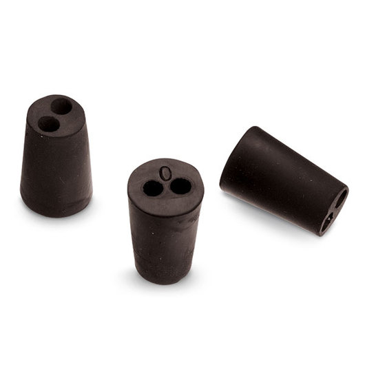 Rubber Stoppers - Size 0, Two-Hole