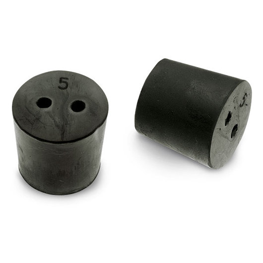 Rubber Stoppers - Size 5, Two-Hole