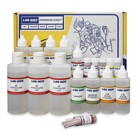 Refill (Chemicals Only) for Properties of Acid and Bases Experiment Kit - Lab-Aids® No. 82