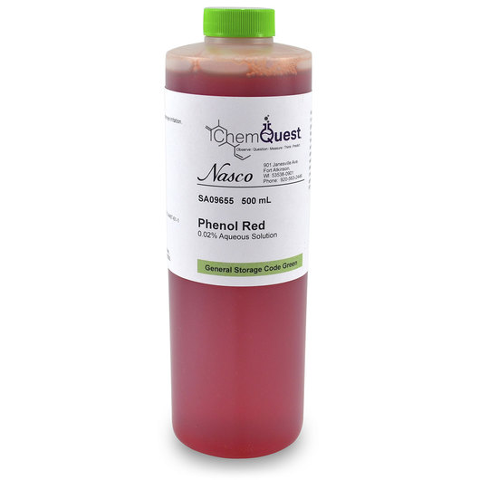 Phenol Red, 0.02% Concentrate - 500 ml