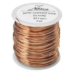 Series 2000 Type (BC) Bare Copper Bus Bar Wire - 1-lb. Spool, 20-Gauge (320 ft.)