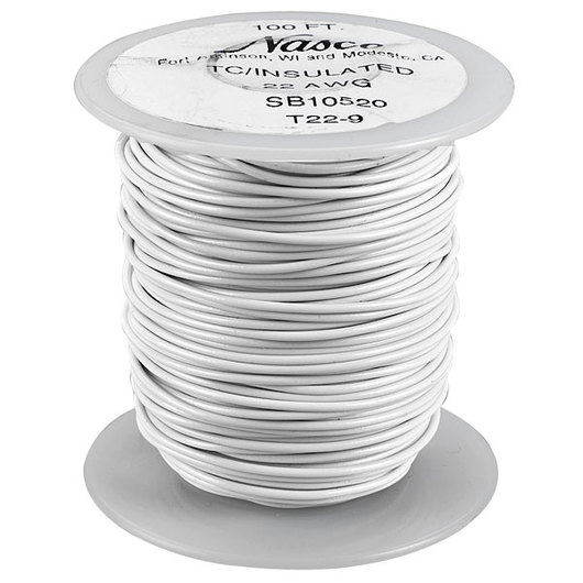 PVC-Covered Copper Connecting Wire - White