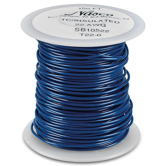 PVC-Covered Copper Connecting Wire - Blue