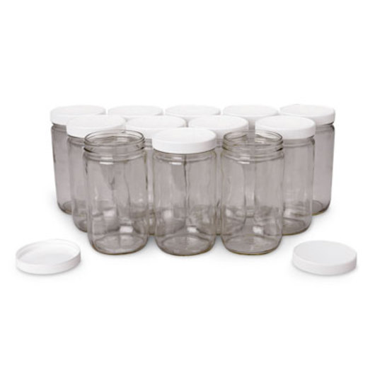 Wide-Mouth Specimen Jars - 32 oz. - Case of 12