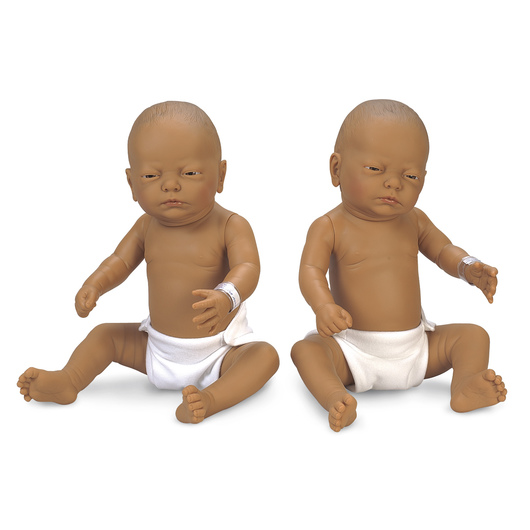 Newborn Baby Doll - Medium Brown Baby Boy and Girl