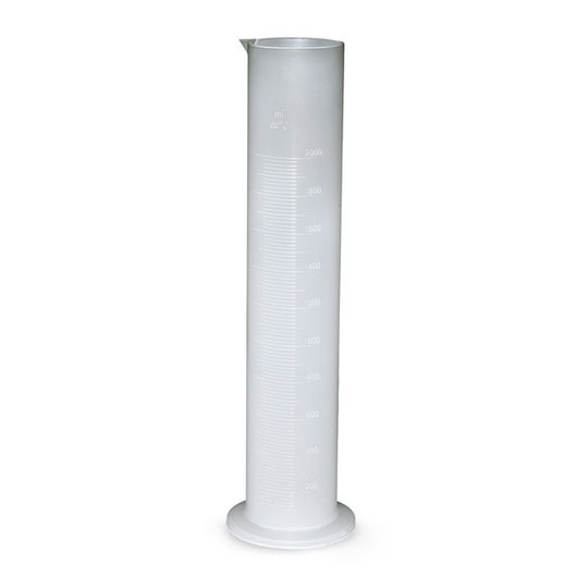 Polypropylene Graduated Cylinders, Single Scale, Class B - 2000 x 20 ml