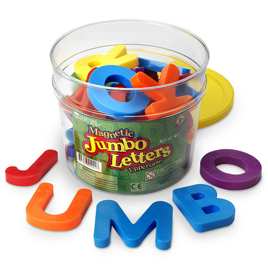 Plastic Magnetic Uppercase Letters