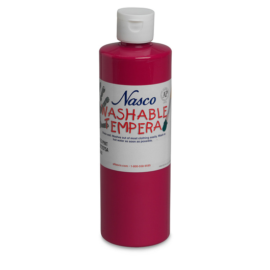 Nasco Washable Tempera Paint - Red - Pint