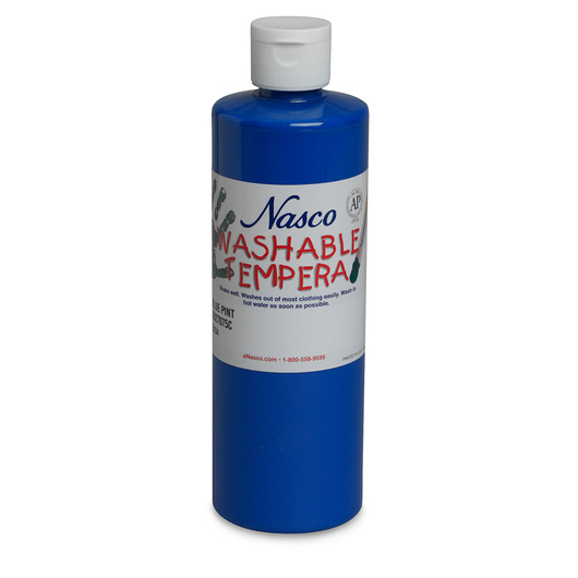 Nasco Washable Tempera Paint - Blue - Pint