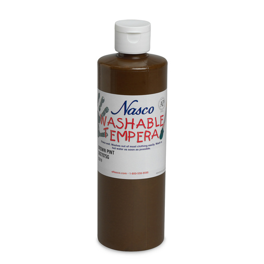 Nasco Washable Tempera Paint - Brown - Pint