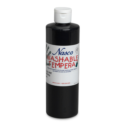 Nasco Washable Tempera Paint - Black - Pint