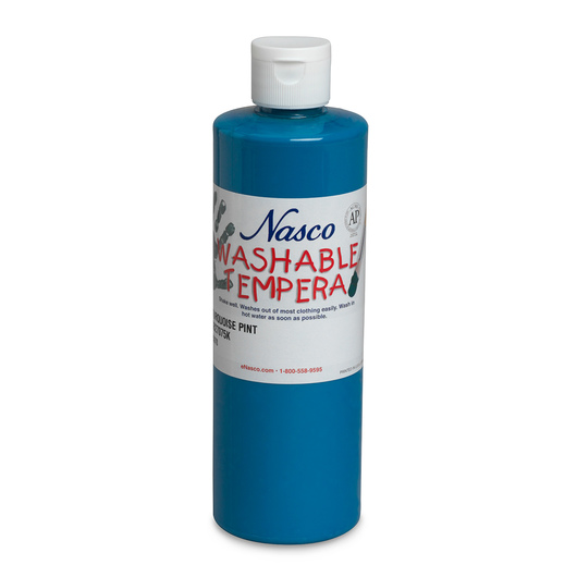 Nasco Washable Tempera Paint - Turquoise - Pint