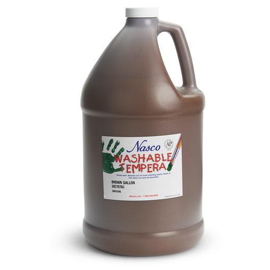 Nasco Washable Tempera Paint - Brown - Gallon