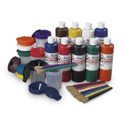 Nasco Washable Tempera Let's Paint Kit