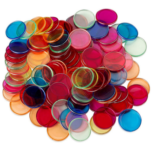 Metal Rimmed Counting Chips