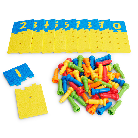 Lauri® Number Puzzle Boards & Pegs