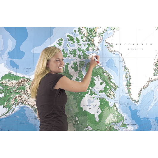 Write-On/Wipe-Off Giant World Map