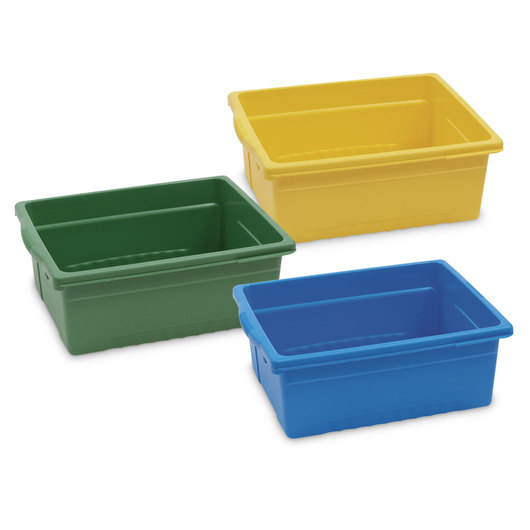 Colored Open Tubs - Set of 9
