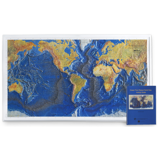 Raised Relief Map of the Ocean Floor with Teacher's Guide