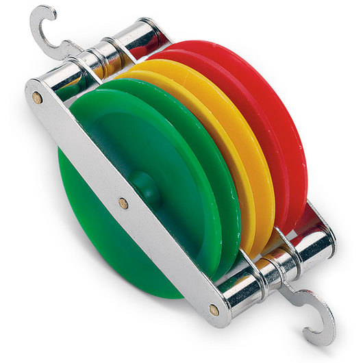 Colored Triple Pulley - 50 mm