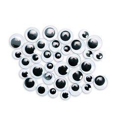 Jumbo Size Wiggle Eyes 3/4 in. - 1-1/2 in. - Pack of 100