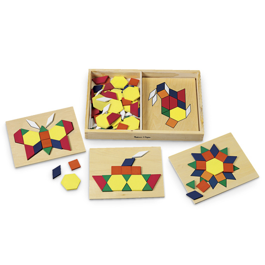 Melissa & Doug® Wood Pattern Blocks and Boards