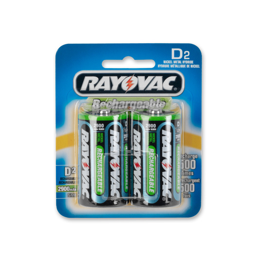 "Rayovac® Reusable ""D"" Batteries - Pkg. of 2"