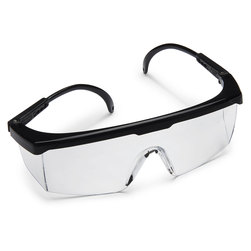 Economy Safety Glasses with Black Frame