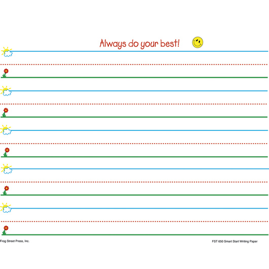 Smart Start Writing Paper - K-1 Level