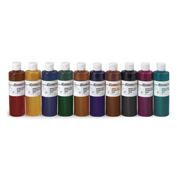 Set of 10 Classic Nasco Economy Washable Liquid Watercolors