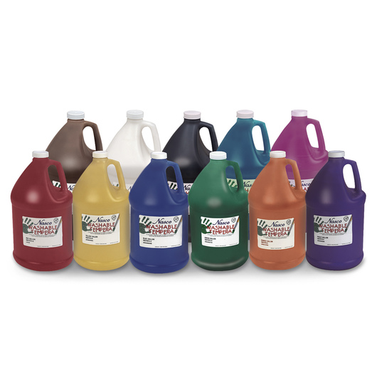 Nasco Washable Tempera Paint - Set of 11 Gallons