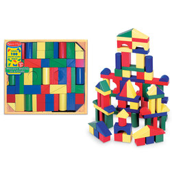 Colored Wooden Block 100-Piece Super Set