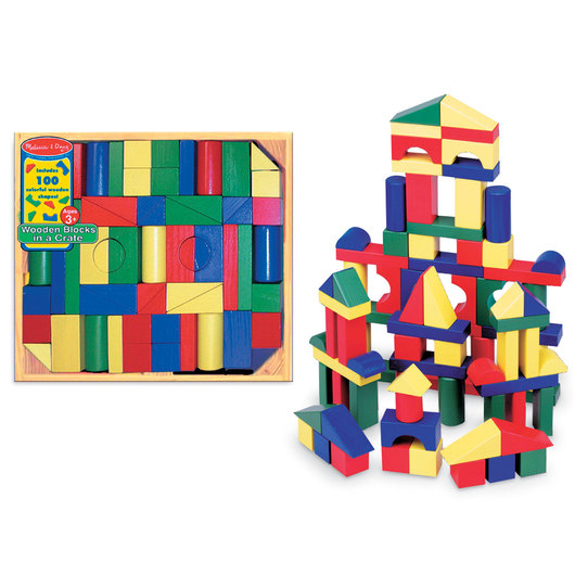 Melissa & Doug® Colored Wooden Block Super Set 100-Pieces