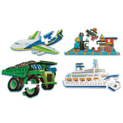 Transportation Floor Puzzle Set