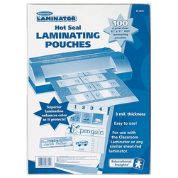 Educational Insights® Classroom Laminator Hot Seal Laminating Pouches - Pack of 100