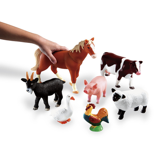 Learning Resources® Jumbo Farm Animals - Set of 7