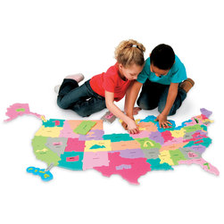 Pacon Wonder Foam USA Foam Floor Puzzle