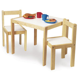 Laminate-Top Wooden Table and Chairs Set