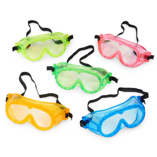 5 in. Secondary Fluorescent Safety Goggles - Set of 5