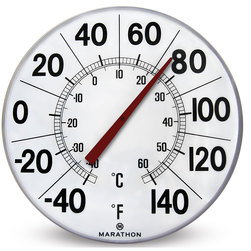 Indoor/Outdoor Giant Round Thermometer