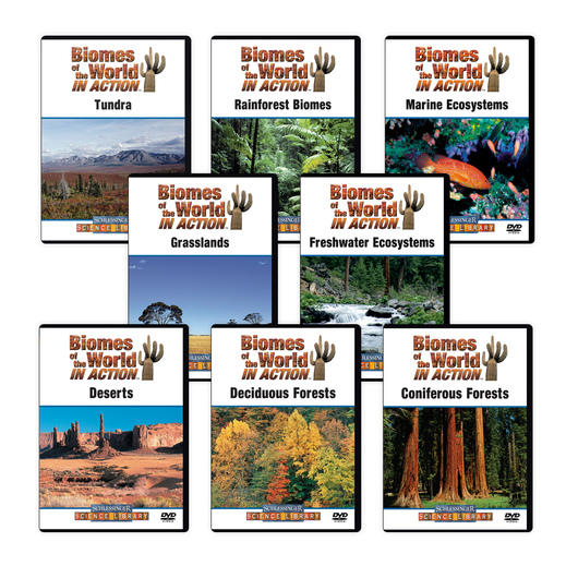 Biomes of the World in Action DVD Series - 8 DVDs
